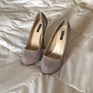 Shoemint lilac pumps with silver accent